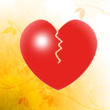 Broken Heart Shows Unhappy Couple Or Royalty Free Stock Image