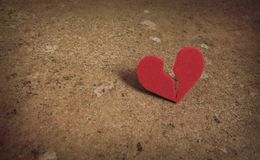 Broken heart split Royalty Free Stock Images