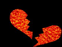 Broken heart traffic light Royalty Free Stock Photography