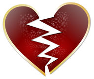 Broken heart vector Royalty Free Stock Photos