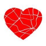 Broken heart vector Stock Image