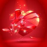 Broken heart. Vector illustration Royalty Free Stock Photography