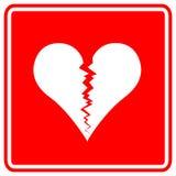 Broken heart vector sign. Vector sign with a broken heart symbol Stock Images