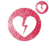 Broken heart vector simple single color icon isolated on white b Stock Photos
