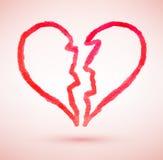 Broken heart. Vector sketch Stock Photos