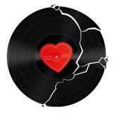Broken Heart Vinyl Record Royalty Free Stock Image
