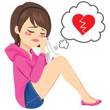 Broken Heart Woman Crying Royalty Free Stock Image