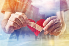 Broken hearted Man as Valentines day concept. Stock Images