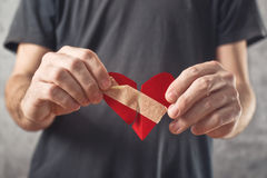 Broken hearted. Valentines day concept. Stock Photos