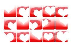 Broken hearts. Abstract color Stock Photo