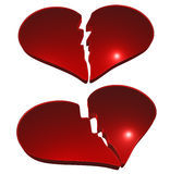 Broken hearts Royalty Free Stock Photo