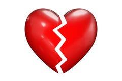 Broken hearts. Design elements - broken hearts - Templates - 3D Symbolic of relationship crisis Stock Photo