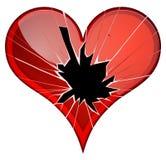 Broken hearts. Dislike, sadness, shattered, rupture, break up themes. Royalty Free Stock Image