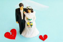 Broken hearts - divorce Stock Images