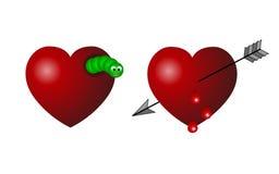 Broken hearts Stock Photography