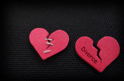 Broken hearts Stock Image