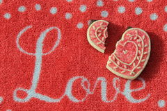 Broken hearts and Valentines day Royalty Free Stock Photo