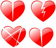 Broken hearts Royalty Free Stock Image