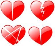 Broken hearts Royalty Free Stock Image