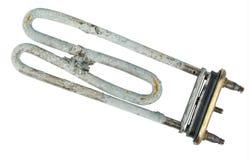 Broken heating element of water heater Stock Photo
