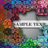 Broken hexagon kaleidoscope optical illusion Stock Photos
