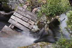 Broken hikingbridge Stock Photos