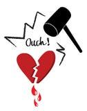 broken hjärta royaltyfri illustrationer