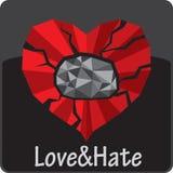 broken hjärta Arkivbild