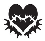 broken hjärtavektor Arkivfoto
