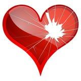 broken hjärtor Motvilja sorgsenhet som splittras, brister, bryter upp teman Royaltyfri Fotografi