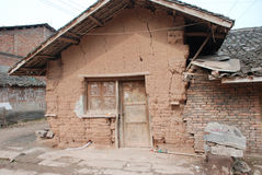 Broken house in chinese countryside Royalty Free Stock Photos