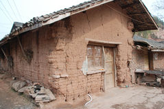 Broken house in chinese countryside Royalty Free Stock Images