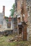 Broken huis in Oradour sur Glane Royalty Free Stock Image