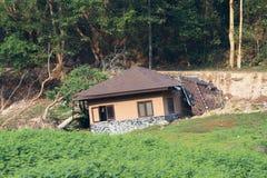Broken hus Royaltyfria Foton