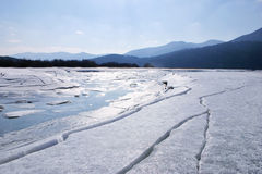 Broken ice. On sunny day royalty free stock image