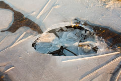 Broken ice Royalty Free Stock Photography