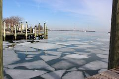 Broken Ice in Annapolis Stock Images