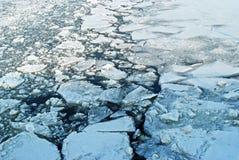 Broken ice background Stock Image