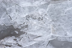 Broken ice with cracks Stock Images