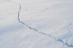 Broken ice in Gulf of Finland Royalty Free Stock Images