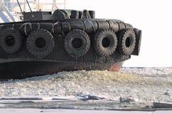 Broken ice under the boat. Stock Image