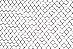 Broken iron wire fence Stock Photos