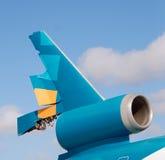 Broken jet tail Royalty Free Stock Photo
