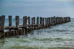 Broken jetty Royalty Free Stock Images