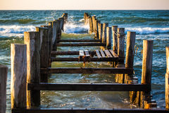 Broken jetty Royalty Free Stock Photo