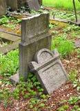 Broken jewish headstone Royalty Free Stock Image