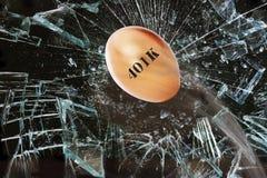 Broken 401K Nest Egg. Royalty Free Stock Photo