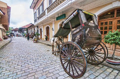 Broken Kalesa (Horse carriage) Royalty Free Stock Images