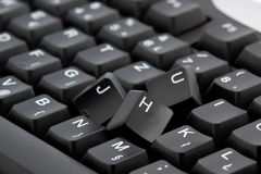 Broken keyboard Stock Image