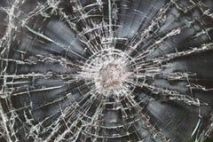 broken knäcka exponeringsglas Arkivbilder